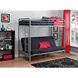 DHP Over Futon Metal Bunk Bed, Silver