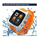 Newest IP67 Waterproof 1.54 Inch IMacwear M7 Smart Watch Phone -- Android 4.2.2 OS MTK6572 Dual-core CPU 3G/GSM/WCDMA 1.54 Inch IPS Capacitive Screen Sports Pedometer Heart Rate Monitor GPS 5.0 MP Camera Smart Watch phone (Orange)