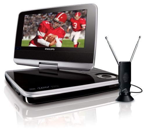 Philips PET749/37 7- Inch Portable Digital LCD DTV and DVD Player with 180- Degrees swivel screen, Black