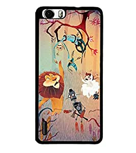 Fuson Premium 2D Back Case Cover Cartoon With Grey Background Degined For Huawei Honor 6