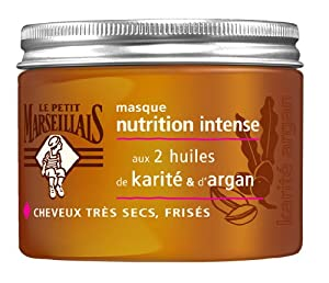 Le Petit Marseillais Masque Nutrition Intense Huile de Karité d'Argan Cheveux Très Secs à Frises 300 ml