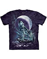 The Mountain Moon Soloist Wolf Adult T-shirt