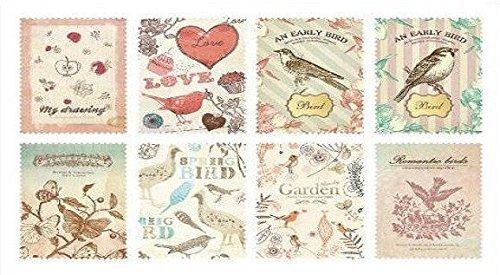 1-pcs-set-of-2-sheets-mini-vintage-paper-deco-sticker-stamp-sticker-by-leonid