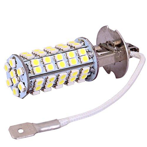 2Pcs H3 68 Smd 3528 Led High Power Fog Light Bulbs Xenon-White Car Vehicle Fog Light Bulb Headlight Lamp Dc 10-24V