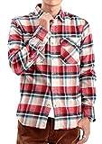 JIGGYS SHOP (ジギーズショップ) コットンチェックシャツ メンズ シャツ メンズ チェックシャツ メンズ M ベージュ×レッド