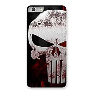 Impressive Bleed Red Skull Back Case Cover for Micromax Canvas Knight 2