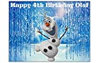 OLAF FROZEN EDIBLE IMAGE CAKE TOPPER DECORATION sugar sheet PARTY BIRTHDAY PERSONALIZED Anna elsa olaf