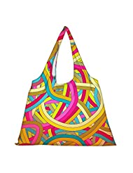Snoogg High Strength Reusable Shopping Bag Fashion Style Grocery Tote Bag Jhola Bag - B01B97G0JM