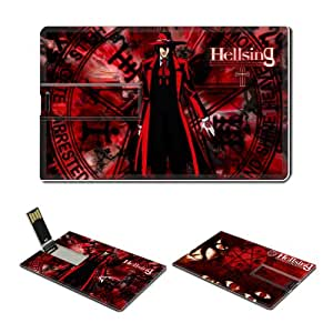 16GB USB Flash Drive USB 2.0 Memory Credit Card Size Anime Hellsing Comic Game Customized Support Services Ready Alucard-002
