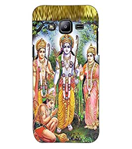 ColourCraft Lord Ram Laxaman Janaki and Hanuman Design Back Case Cover for SAMSUNG GALAXY J2 J200G