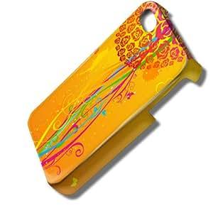 Amore 10001, Cœur, 3D Design Coque Arriere Rigide Coquille Housse Case Cover Couverture avec Dessin Coloré pour Apple iPhone 4 4S.