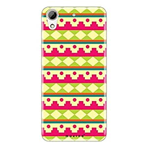 Mozine Pink Fort Pattern printed mobile back cover for HTC desire 728