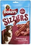 Bakers Sizzlers Tasty Bacon Flavour Dog Treat 120 g (Pack of 6)