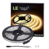 LE-Waterproof-12V-Flexible-LED-Strip-Lights-3000K-Warm-White-300-Units-SMD-5050-LEDs-218-Lumensft-44-wattsft-12-Volt-LED-Light-Strips-164ft5m
