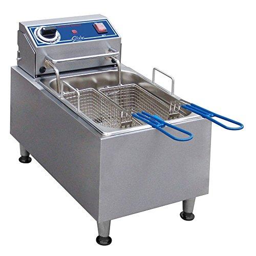 Globe Food Pf10E Countertop 120V Electric 10-Lb Oil Capacity Fryer