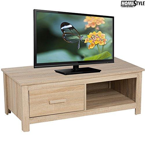 Bakaji Mobile Porta TV 100 x 48 x 37 cm MDF Cassetto + Ripiano Soggiorno Homestyle Arredamento Casa
