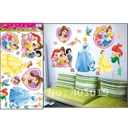Disney Princess Children's Wall Stickers/Decals/Mural