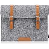 PLEMO Felt 11-11.6 Inch Netbook / Laptop / Notebook Computer / MacBook Air Sleeve Case Bag Cover, Grey