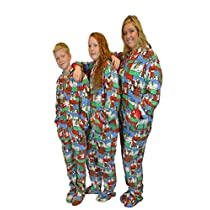 Ugly-Christmas-Sweater-Hoodie-Plush-Footed-Pajamas-Onesie-Drop-Seat