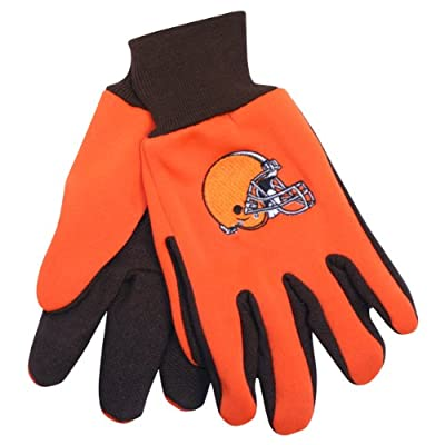 NFL Team Logo Grip Gloves - Cleveland Browns