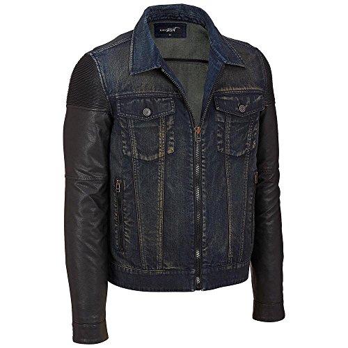 Black Rivet Mens Big & Tall Indigo Denim Jacket 3X Indigo Big Tall Denim Jackets