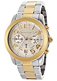 Michael Kors Mercer Chronograph Silver Dial Two-Tone Stainless Steel Ladies Watch MK5748