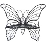 Hi-Line Gift Garden Décor Butterfly Chair, 45 by 24 by 42-Inch, Antique Black