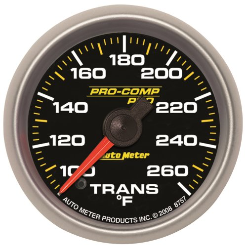 "Auto Meter 8657 Pro-Comp Pro 2-5/8"" 100-260 Degree F Full Sweep Electric Transmission Temperature Gauge"