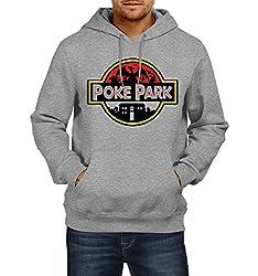 Fanideaz Men's Cotton Poke Park Hoodies For Men (Premium Sweatshirt)_Grey Melange_L