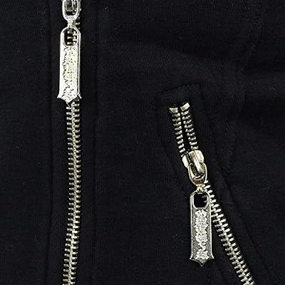Yakuza Frauen Biker Sweat Jacke Cropped schwarz - fällt 1 grösser aus, sehr kurz !!