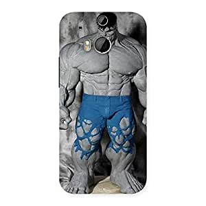 Premium Blue Big Guy Back Case Cover for HTC One M8