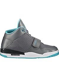 Nike Jordan Men's Flight Club 90's Basketball Shoes-Gym Grey/Blue Size 9