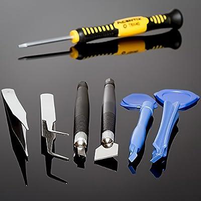 Acentix ®, 16 in 1, Chrom Vanadium Öffnung Werkzeug Schraubendreher Set kit for iPhone 3GS, 4, 4S, 5, 5S, 6, 6, Plus 1/2/3/4, iPad, iPod, iTouch, PSP, NDS, HTC, BlackBerry, Nokia, Samsung, Universal Werkzeugkoffer