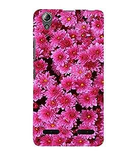 Pink Flowers 3D Hard Polycarbonate Designer Back Case Cover for Lenovo A6000 :: Lenovo A6000 Plus :: Lenovo A6000+