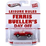 Hot Wheels Retro Ferris Buellers Day Off 1:55 Die Cast Car Ferrari 250 California