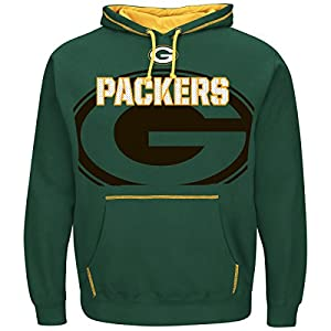 Green Bay Packers Majestic NFL Seam Pass Pullover Hooded Sweatshirt from Majestic