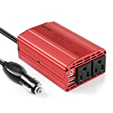 BESTEK 300W Power Inverter DC 12V to 110V AC Converter with 3.1A Dual USB Car Adapter