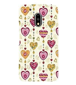 printtech Love Heart Pattern Back Case Cover for Motorola Moto G4 Plus / Motorola Moto G4