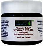 """Cucumber Delight"" ANTI AGING EYE GEL with VITAMIN C (5%) + Wrinkle Reduction & Prevention Antioxidant Combination Moisturizer Gel + 70% Organic Ingredients Including Organic Herbal Infusion & Botanical Hyaluronic Acid (No Rooster Combs - Vegan Approved Source!)! + Use alone or along with our complete Anti Aging / Antioxidant Combination System which includes the Perfect Body Harmony Vitamin C Facial Cleanser/Wash, Anti Aging Treatment (Toner Replacement), Vitamin C Facial Serum, Botanical Hyaluronic Acid, & Vitamin C Facial Creme + 1.0 oz Jar + NO SULFATES, NO PARABENS + NO ANIMAL TESTING!"