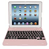 Skque Aluminum Wireless Bluetooth Keyboard for iPad 3, Pink [Electronics]