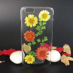 Beautiful Real Flowers Clear Slim Unique Design Phone Case for iPhone 6(7)