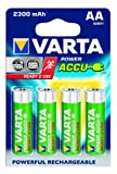 Varta Power Accu 2300 mAh Ready2Use Rechargeable AA Batteries - 4-Pack