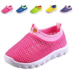 CIOR Kids Aqua Shoes Breathable Slip-on Sneakers For Running Pool Beach Toddler / Little Kid / Big Kid,1106pink,24