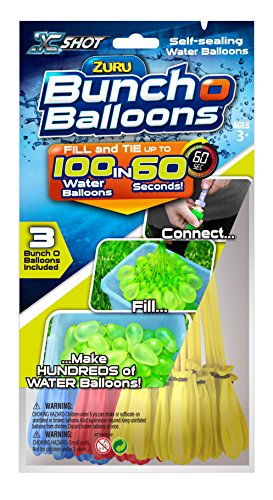 Zuru-Bunch-O-Balloons-3-different-colors-Fill-in-60-Seconds-100-Total-Water-Balloons