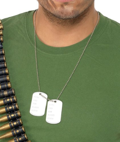 Smiffy's Dogtags. Ideal for Top Gun dress-up.