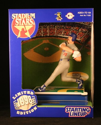 MIKE PIAZZA / LOS ANGELES DODGERS 1998 MLB Stadium Stars Starting Lineup Deluxe 6 Inch Figure with Custom Display Base