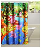 "Swayam Curtain Concept Printed Polyester Premium Shower Curtain - 72""x84"", Multicolor (CHW-5601 Animal)"