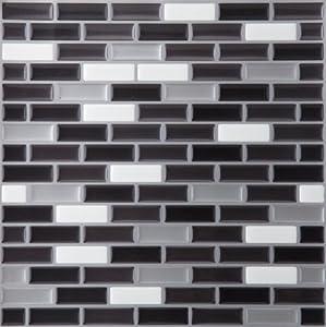 Achim Home Furnishings MGTSPCMT24 Metallic Mosaic Magic Gel Wall Tile, Spectrum, 1-Pack