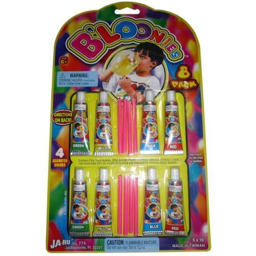 B'loonies Plastic Balloons Variety Pack, 8 Tubes of Assorted Colors - 1