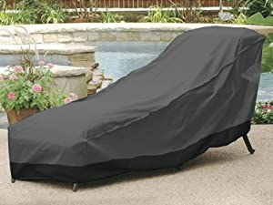 Outdoor Patio Chaise Lounge Chair Cover 66 Length Dark Gre